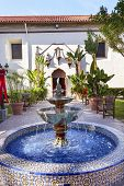 Mexican Tile Fountain Garden Mission San Buenaventura Ventura California