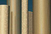 Skyscrapers In Golden Light