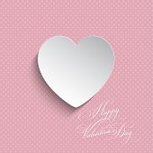 Heart shape on a polka dot background for Valentine's Day