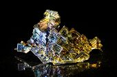 Bismuth In Front Of Black
