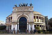 Politeama Garibaldi theater facade, Palermo, Sicily