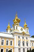 Saint Petersburg, Russia - July 10: Church Housing Of The Grand Palace In Peterhof On July 10, 2013