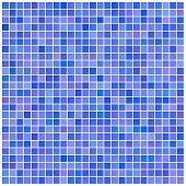 Square blue mosaic background