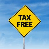 Tax Free Road Sign