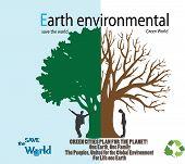 Save the world- Dry tree on globe