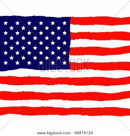 Grunge American Flag for Independence Day poster