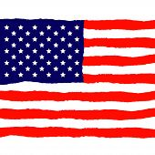 stock photo of holiday symbols  - Grunge American Flag for Independence Day - JPG