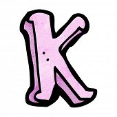 cartoon letter K