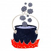 cartoon witch's cauldron