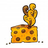 image of smelly  - cartoon smelly cheese - JPG
