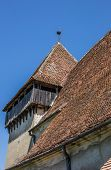 Detail Of The Fortified Church In The Romanian Town Of Copsa Mare