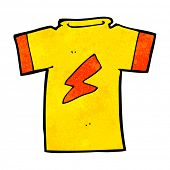 cartoon t shirt with lightning bolt