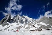 image of jade blue  - Jade dragon snow mountain in Yunnan China