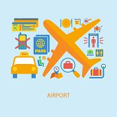 Airport icon flat