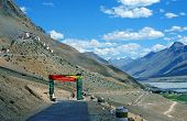 Spectacular View Od Dhankar Village And Gompa With High Himalayas  In Background