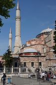 Tourists Gather In Front Of Hagia Sophia