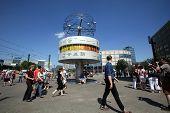 BERLIN, GERMANY - JUNE 11, 2014: A general view of AlexanderPlatz in  Berlin, Germany, on Saturday,