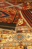 Overlapping Carpets With Intricate Kurdish  Patterns