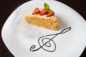 Cheesecake on white plate