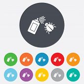 picture of disinfection  - Bug disinfection sign icon - JPG