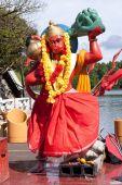 Statue of Hanuman in Mauritius