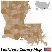 Louisiana County Map