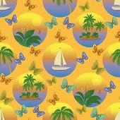 Seamless tropical background