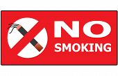 No Smoking Cigarette Area Sign For Public Health Vector