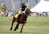 JERSEY CITY, NJ-MAY 31: Nacho Figueras in action during the polo match at the 7th Annual Veuve Cliquot Polo Classic at Liberty State Park on May 31, 2014 in Jersey City, NJ.