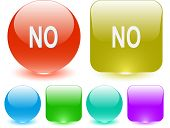 No. Interface element. Raster illustration.