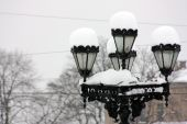 Winter in Kiev - copes and monuments