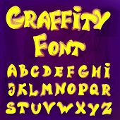 English Alphabet In Graffiti Style