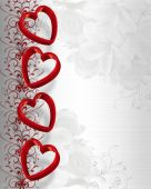 Valentines Day Hearts Border