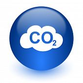 carbon dioxide computer icon on white background