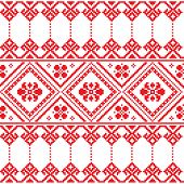 Ukrainian folk art floral embroidery pattern or print