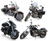 Set Of Large Motorcycles