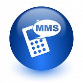 mms computer icon on white background