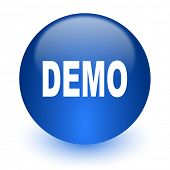 demo computer icon on white background