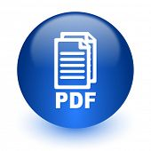 pdf computer icon on white background,