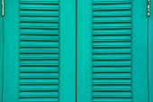 Italian style shutters in an old house
