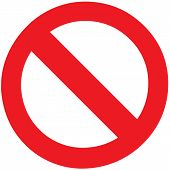 Stop Forbidden Sign Symbol Zone Blank Vector