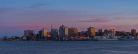 pic of dartmouth  - Panorama of Halifax Nova Scotia at sunset  - JPG