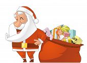 Santa And Gifts Ball