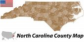 North Carolina County Map