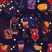 Fun party time bokeh seamless print