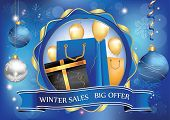Winter Sales poster for print