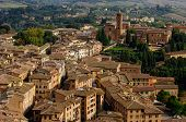 View Of Siena Town. Tuscany, Italy.