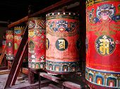 Prayer wheels in Tar Lamasery