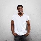 Smiling Young Man In White T-shirt