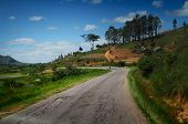 Asphalt road RN7 (Antananarivo-Toliara) on the island of Madagascar